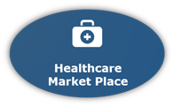 Graphic Button For Healthcare Marketplace