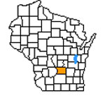 Wisconsin Map highlighting Columbia County