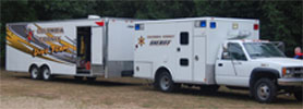 Columbia County Dive Team Trailer and equipment