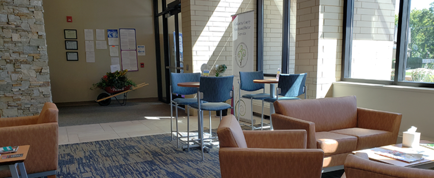 Graphic of Health and Human Services Cafe Area